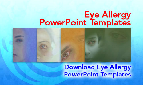 Eye Allergy Medicine PowerPoint Templates