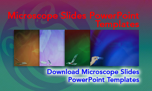 Microscope Slides Medicine PowerPoint Templates