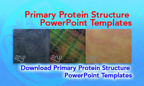 Primary Protein Structure Medicine PowerPoint Templates
