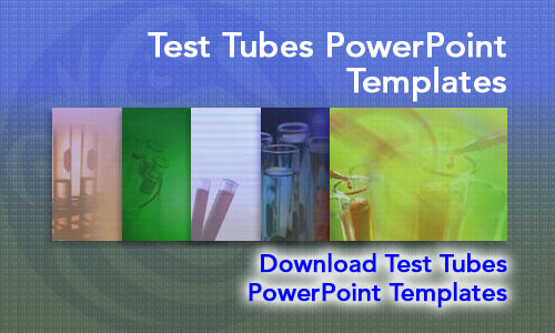 Test Tubes Medicine PowerPoint Templates